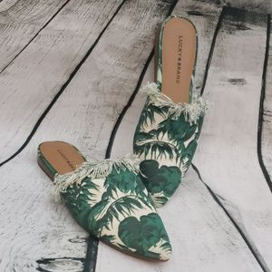 Lucky Brand tropical d'orsay mules
